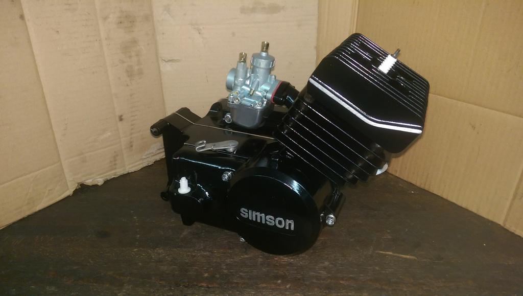 S w 2 takt simson tuning simson motor in schwarz lackierung for Lee hyundai motor finance